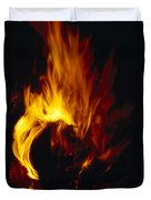 Red, Orange And Yellow Flickering Duvet Cover