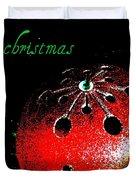 Red Ornament Duvet Cover