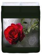 Red Paris Rose Duvet Cover