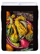 Red Pear And Gourds Duvet Cover