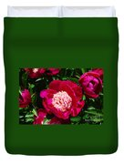 Red Peony Flowers Series 3 Duvet Cover