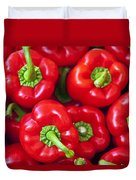 Red Peppers Duvet Cover by Joana Kruse
