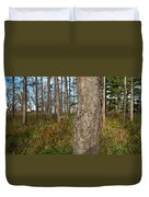 Red Pine Forest Duvet Cover