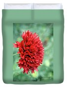 Red Plume Duvet Cover