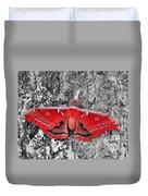 Red Polyphemus Duvet Cover
