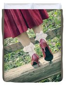 Red Pumps Duvet Cover by Joana Kruse