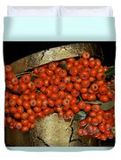 Red Pyracantha Berries Duvet Cover