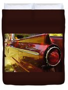 Red Ranchero And Round Taillight Duvet Cover