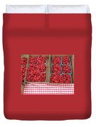 Red Raspberries Are Here Duvet Cover