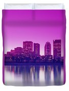 Red River And Downtown Winnipeg Duvet Cover