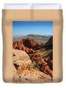 Red Rock Canyon At The Tank Duvet Cover