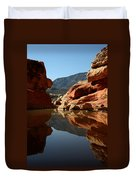 Red Rock Canyon Water Duvet Cover