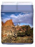 Red Rock Castle Duvet Cover