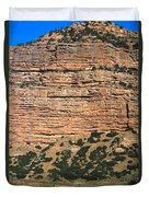 Red Rock Cliffs Along The Hood River Duvet Cover