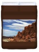 Red Rock Cliffs Valley Of Fire Nevada Duvet Cover