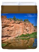Red Rock Formation In The Kaibab Plateau In Grand Canyon National Park Duvet Cover