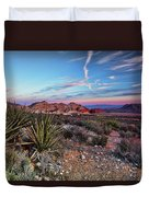 Red Rock Sunset Duvet Cover