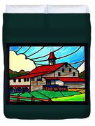 Red Roof Barn On Osceola Springs Road Duvet Cover
