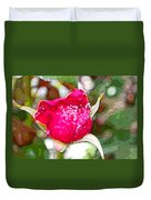 Red Rose Bud Duvet Cover