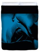 Red Rose Close Up 2011 In Blue Duvet Cover