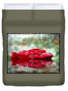 Red Rose Reflections Duvet Cover