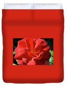 Red Rose Summer Duvet Cover