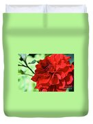 Red Ruby Dahlia Duvet Cover