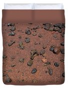 Red Sand And Rocks Duvet Cover
