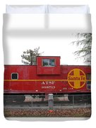 Red Sante Fe Caboose Train . 7d10328 Duvet Cover
