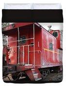 Red Sante Fe Caboose Train . 7d10330 Duvet Cover