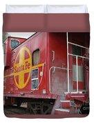 Red Sante Fe Caboose Train . 7d10334 Duvet Cover