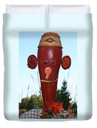Red Scarecrow Duvet Cover