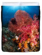 Red Sea Fan And Soft Coral In Raja Duvet Cover