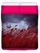 Red Sea Oats Blow In The Wind Duvet Cover
