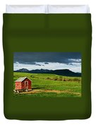 Red Shed Duvet Cover