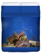 Red Shrimp Duvet Cover