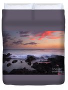Red Sky Paradise Duvet Cover