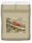 Red Soil Centipede - Strigamia Duvet Cover