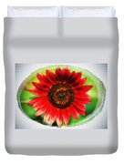 Red Sun Flower Duvet Cover