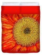Red Sunflower Iv Duvet Cover
