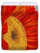 Red Sunflower V Duvet Cover