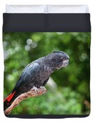 Red-tailed Black-cockatoo Duvet Cover