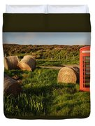 Red Telephone Booth Duvet Cover