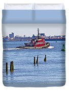 Red Tug One Duvet Cover