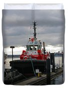 Red Tug Duvet Cover