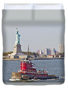 Red Tug Three And Liberty Duvet Cover