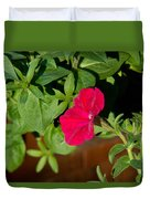 Red Velvet Petunia Duvet Cover