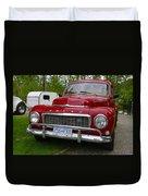 Red Volvo Duvet Cover