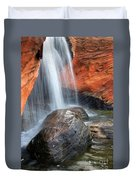 Red Waterfall Duvet Cover