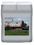 Red Weathered Barn Duvet Cover